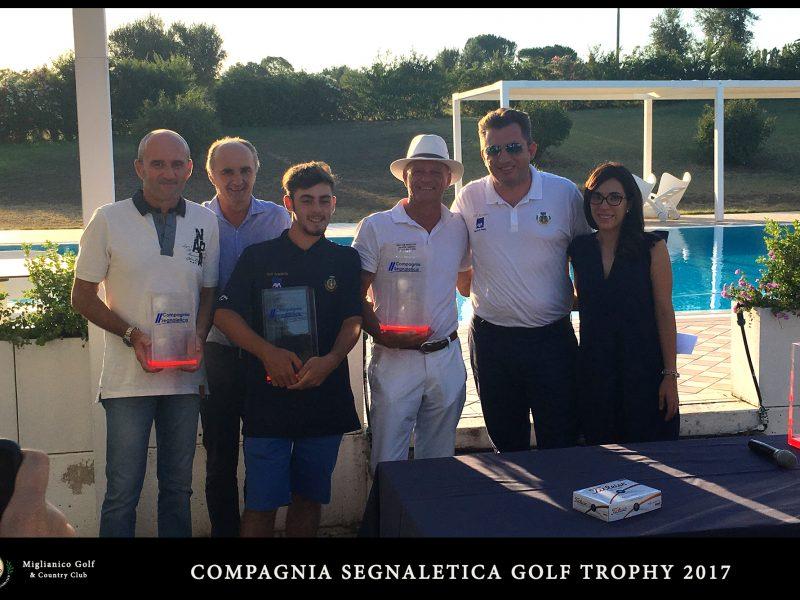 Miglianico Golf Compagnia Segnaletica Golf Trophy 2017 I Premiati della gara