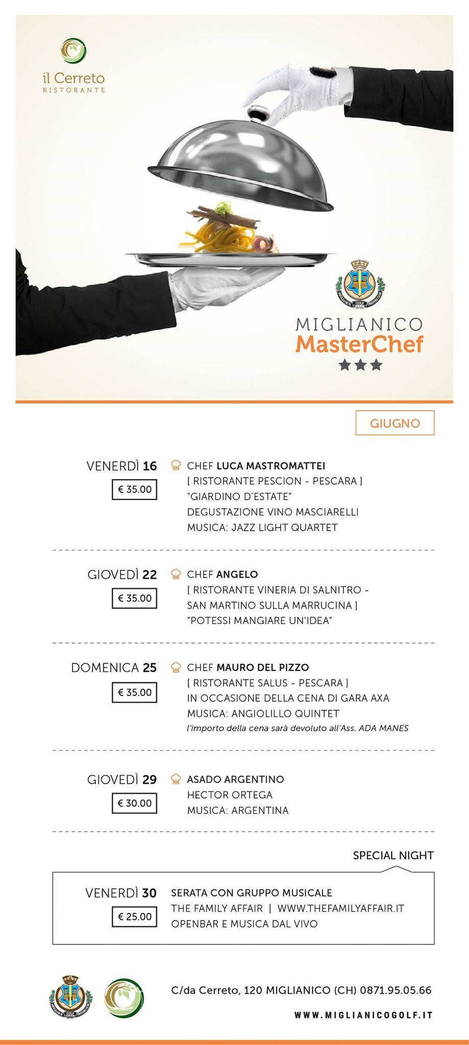 miglianicogolf masterchef giugno 2017